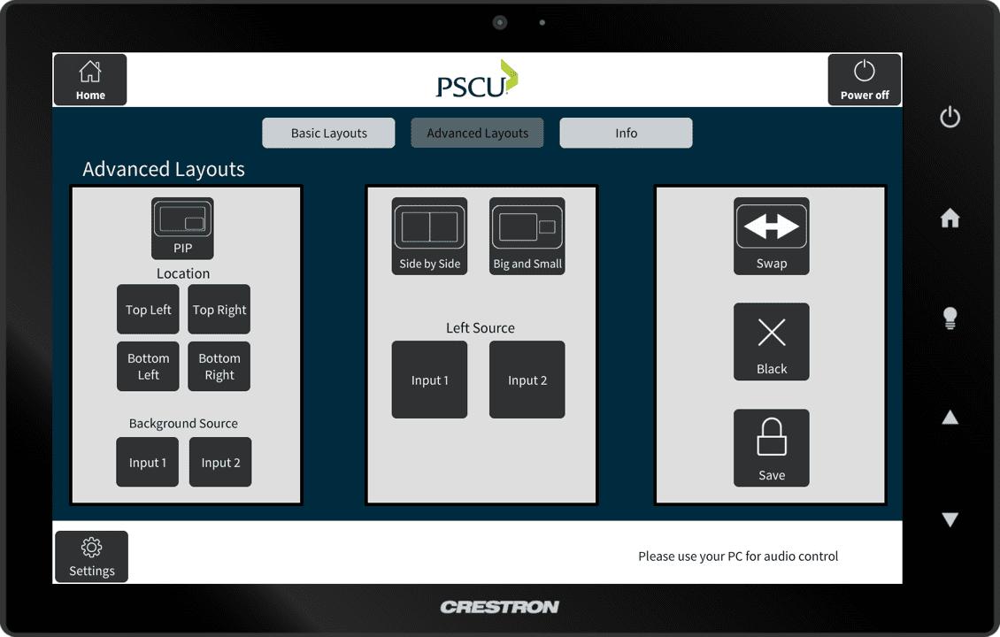 PSCU Crestron Panel