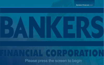 Bankers Financial Touch Panel Welcome Screen