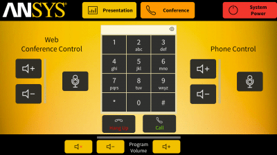 Ansys Inc Touch Panel Audio Conference