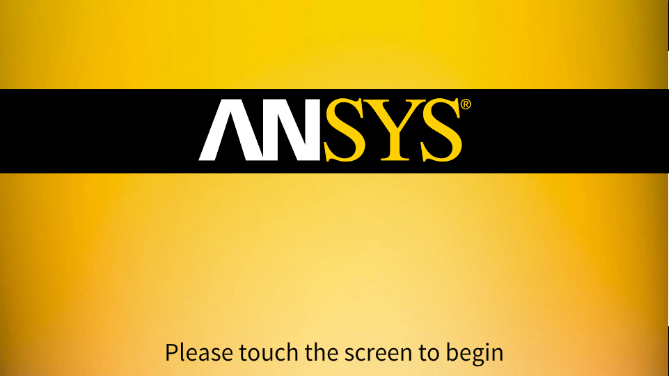 Ansys Inc Touch Panel Welcome
