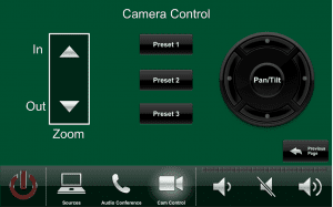University of Miami - President's Office Touch Panel Camera Control