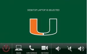 University of Miami - President's Office Touch Panel