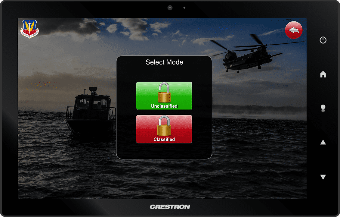 Ellsworth Air Force Base Touch Panel Mode Select