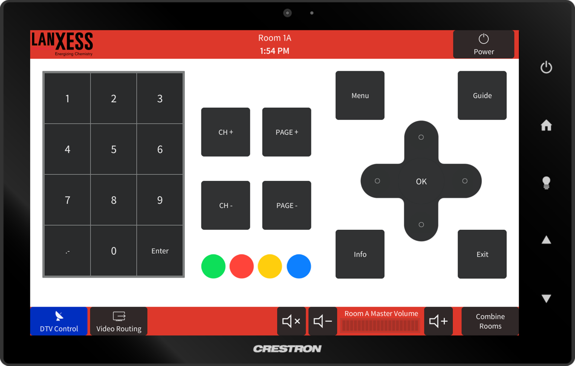 Lanxess Touch Panel DTV Control