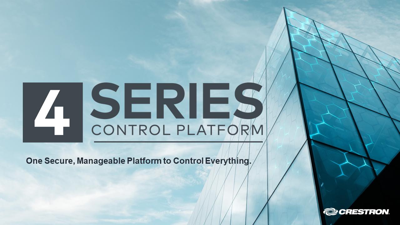 Crestron 4-Series Control Platform